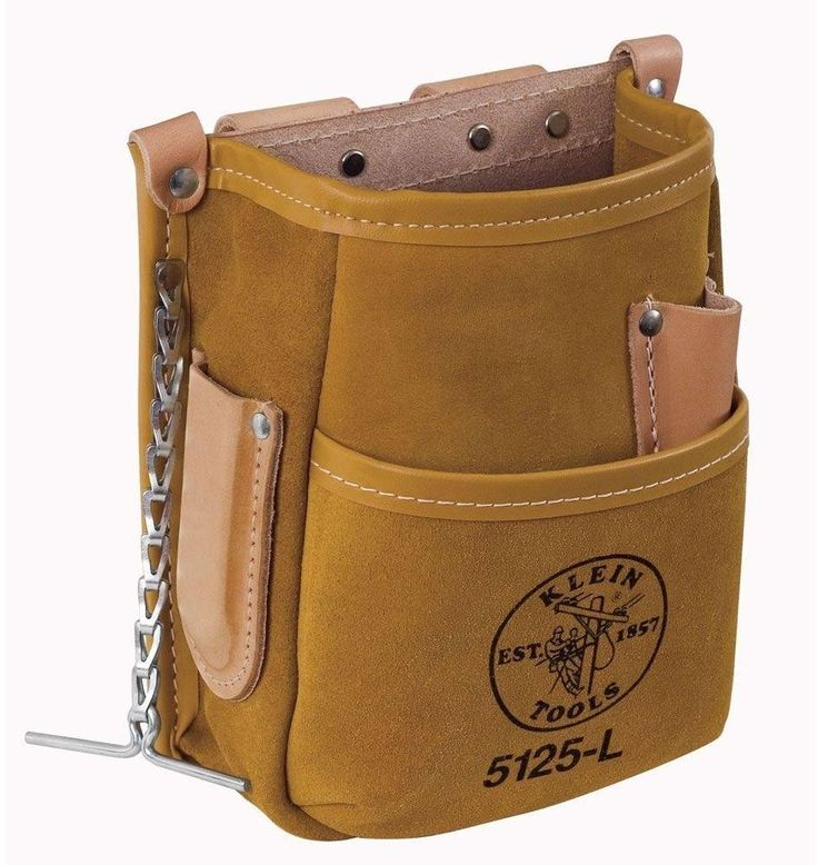 Klein 5-Pocket All Purpose Electrician Lineman Tools Holster Pouch - Leather…