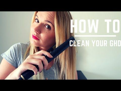 (140) How to clean your hair straightener - YouTube