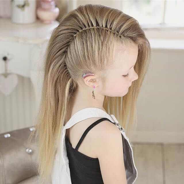 50 Pretty Perfect Cute Hairstyles For Little Girls To Show Off Their Classy Side Mohawk Braid Styles Viking Hair Hair Styles