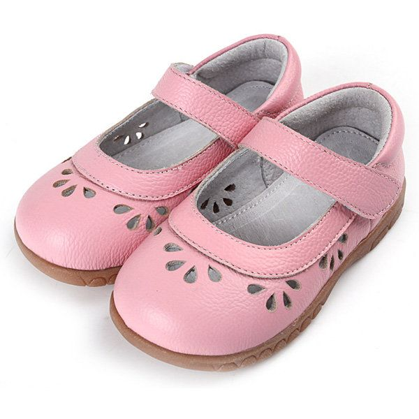 Hollow Out Waterdrop Pattern Soft Sole Kids Dress Shoes
