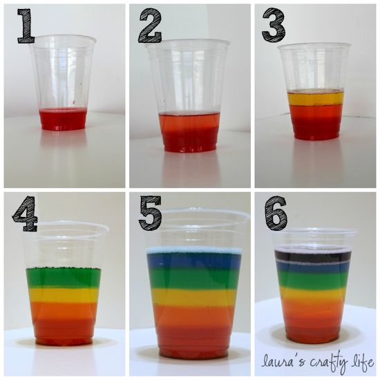 Rainbow Jello Cups (Bridging treat)