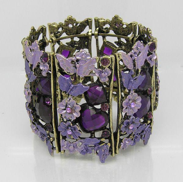 Purple Archaize Crystal  Bangle