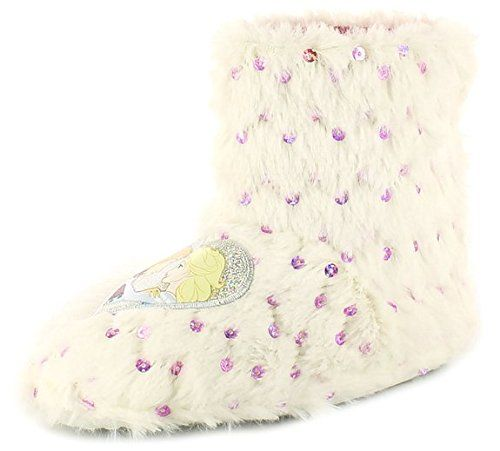 Mädchen Hausschuhe Frozen Fellstiefel Frozen Motiv mit Pailletten - Weiß/Rosa - Weiß/Pink, Fell, 29 - http://on-line-kaufen.de/disney/maedchen-hausschuhe-frozen-fellstiefel-frozen-2