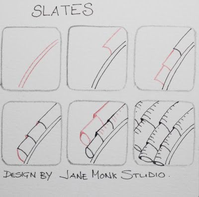 One Tangle : Step Out for Slates ... a Jane Monk Studio designed pattern