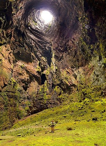 Cave of Swallows in Aquismón, San Luis Potosi, Mexico, is an open air pit cave with the largest known cave shaft in the world.