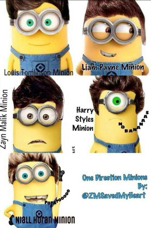 One Direction as minions