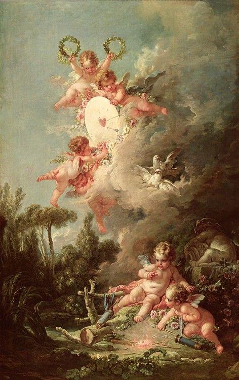Cupid's Target, from 'Les Amours des Dieux' (1758)        François Boucher