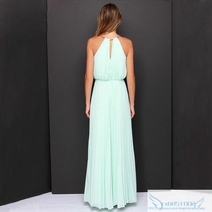 Vestidos De Festa Woman Clothes 2015 Solid Pink Sleeveless Halter Pleated Backless Fashion Designs Maxi Dress