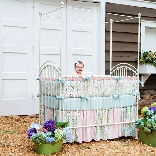 Love Birds Crib Bedding | Baby Girl Crib Bedding in Pink Blue and Green | Carousel Designs 500×500 image