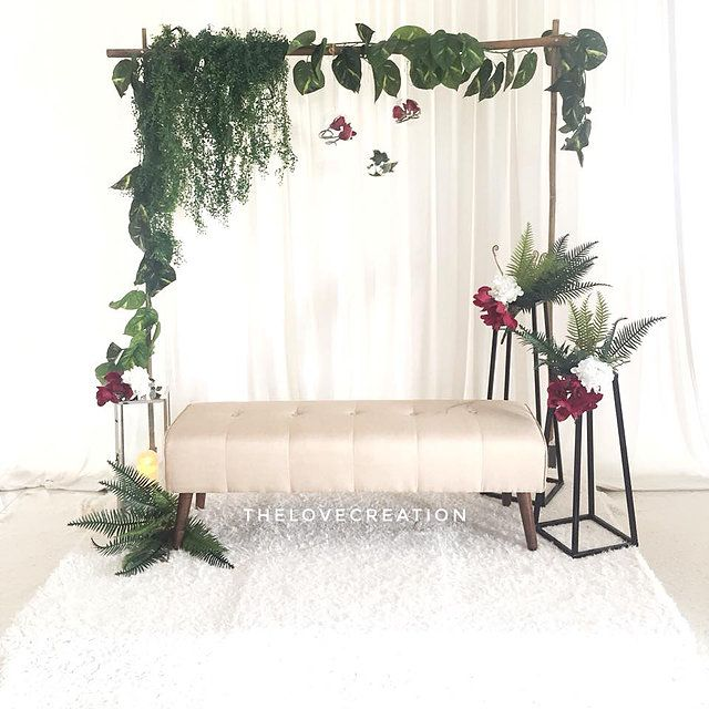 Wedding Nikah Simple Backdrop Decoration Muslim: Bajet, Cantik & Simple