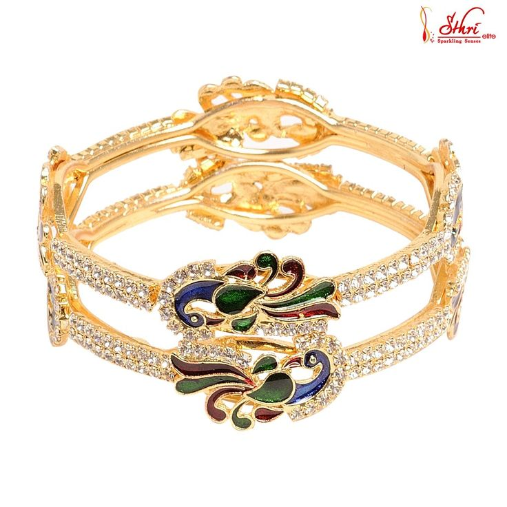 Gold Plated Traditional peacock design Bangles