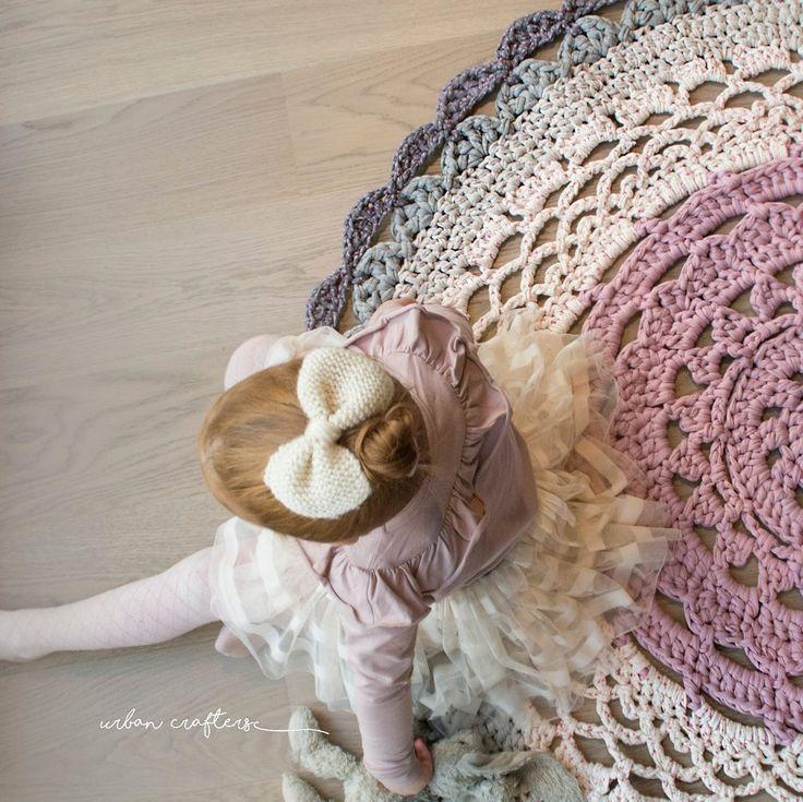 Crochet Rug, Heklet Teppe, Urban Crafters Doily crochet Rug ZPAGETTI yarn heklet gulvteppe