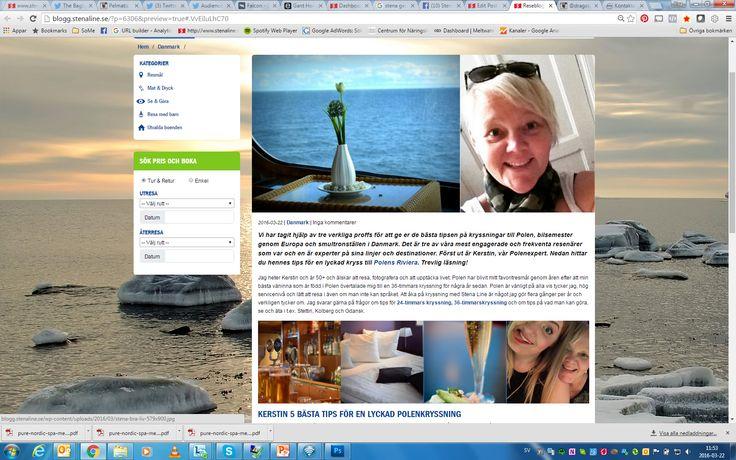 Följ mig på Stenaline Reseblogg