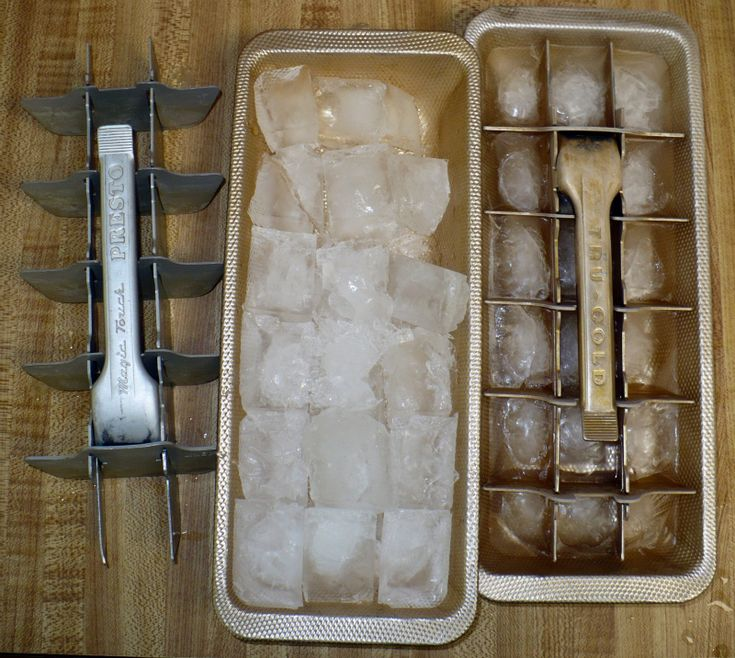 Having to make your own ice cubes?
