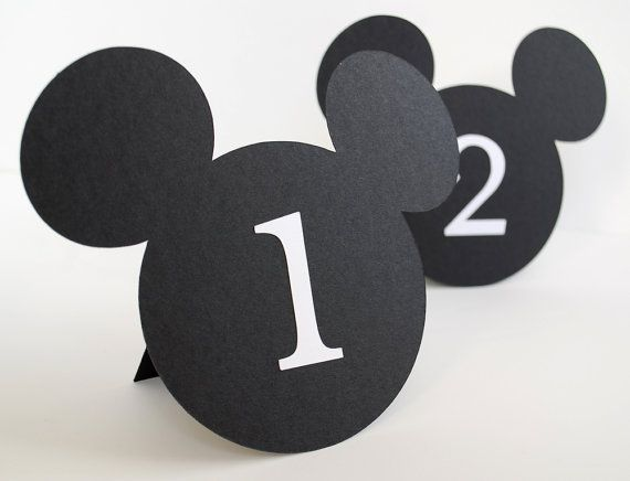 Mouse Shaped Table Numbers Set of 10 by BluefinWorks on Etsy, $30.00