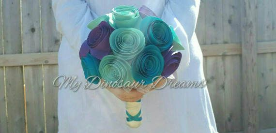 Check out this item in my Etsy shop https://www.etsy.com/listing/519315823/paper-flower-rose-bridesmaids-flower