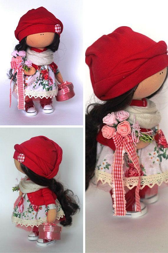 Tilda doll Fabric doll Summer doll handmade by AnnKirillartPlace
