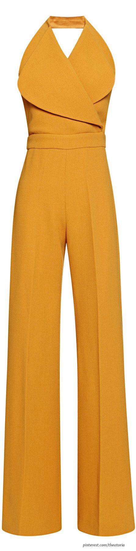 Emilia Wickstead ● FW 2014 - mustard yellow halter jumper