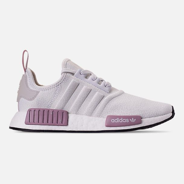 Right View Of Women S Adidas Nmd R1 Casual Shoes In Crystal White Crystal White Orchid Best Golf Shoes Womens Tennis Shoes Adidas Women
