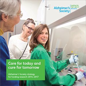 Alzheimer's Society is the only UK charity to fund research into the cause, care, cure and prevention of all types of dementia.