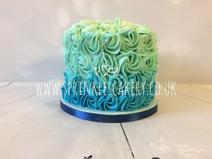 This blue ombre buttercream swirl cake was actually for a 1st birthday  cake smash photoshoot but would also look great finished off with a personalised age or name topper.