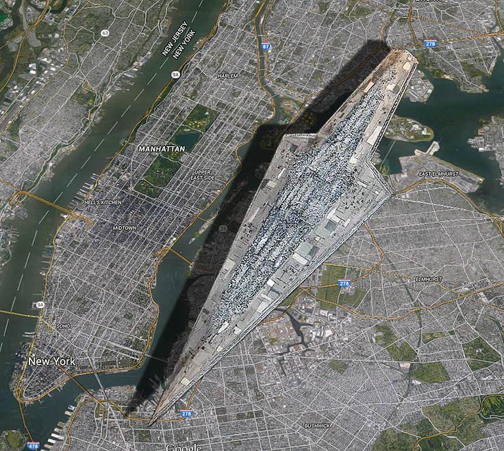 Sternzerstörer über Manhattan: So groß ist das Star-Wars-Raumschiff - CHIP