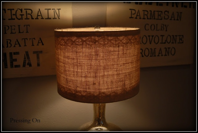 Burlap and Lace Lampshades