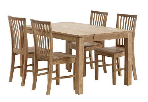 130gbp dining table silkeborg 90x140cm oak  jysk with