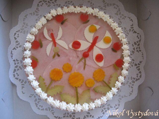 Aspikový dort-motýlkový