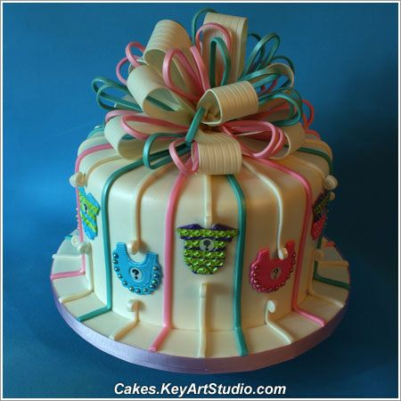 Edible Cake Decorations Boy : 183 best Baby Shower Cakes images on Pinterest Baby ...