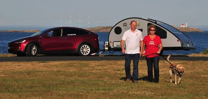 Couple Takes 6000 Mile Solar Powered Road Trip in Tesla Model X Across Canada