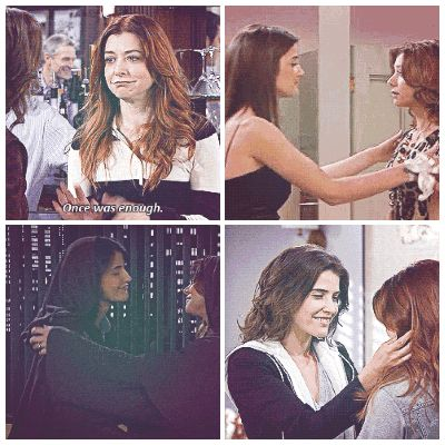 Robily kisses - Robin and Lily kiss - Robin Scherbatsky - Lily Aldrin - How I Met Your Mother - HIMYM - Lily is totally bisexual