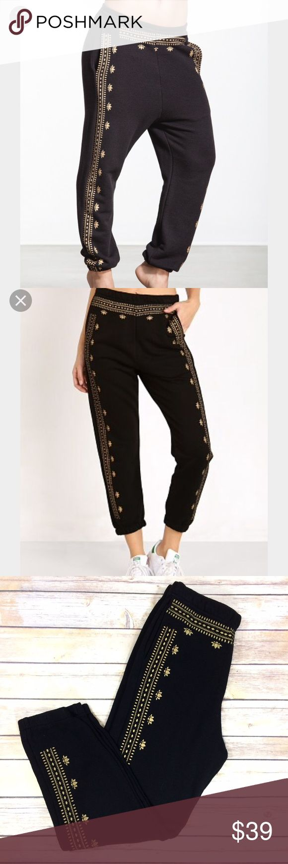 """Spiritual gangster Sz Small lotus harem sweatpants Gently used with light wash wear. Fabric content tag in photos. Across top of waist 12.5"""" inseam 22.5."""" K spiritual gangster Pants Track Pants & Joggers"""