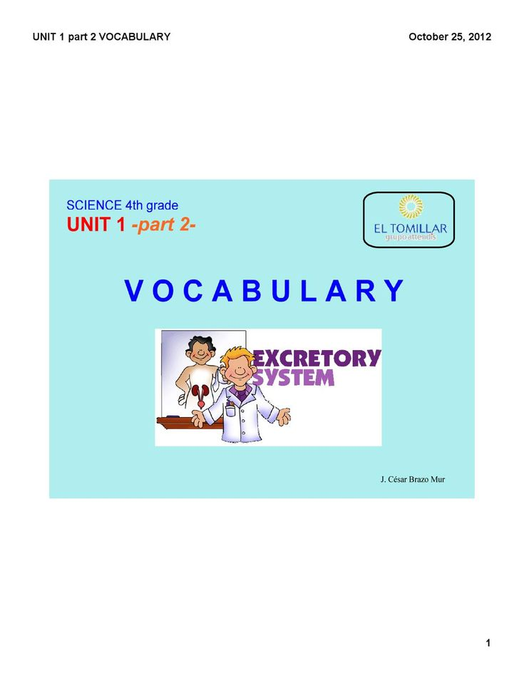 vocabulary unit 1 part 2 science 4th grade
