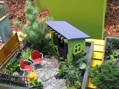 Mini Garden Shed & garden