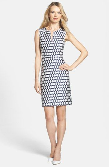 kate spade new york 'emrick' print cotton blend sheath dress | Nordstrom