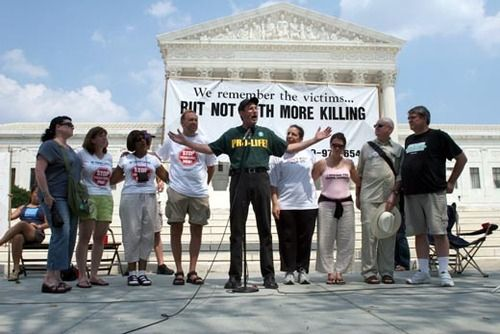 Today is a little known but important date in American history: on June 29, 1972, the U.S. Supreme Court ruled the death penalty unconstitutional in practice in the Furman v. Georgia decision. A number of states scrambled to rewrite their capital punishment statutes and, four years later on July 2, 1976, the Court effectively reversed itself in the Gregg v. Georgia decision. \\ remember the victims, but not with more killing. WORD.