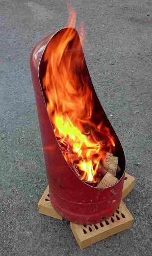 """Make a Homemade Fire Pit From an Old Propane Tank DIY Project - Homesteading  - The Homestead Survival .Com     """"Please Share This Pin"""""""