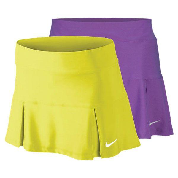 Women`s Four Pleated Knit 13 Inch Tennis Skirt #Nike #Tennis #sportswear