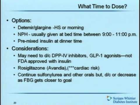 Initiating and Adjusting Insulin Therapy for Type 2 DM - YouTube