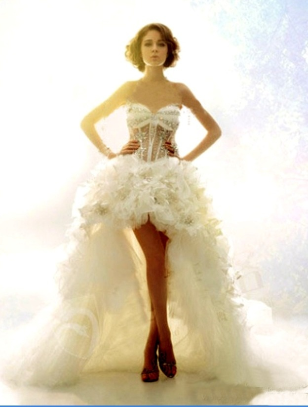 2012 new arrival crystal ostrich feather wedding dress for Wedding dress with ostrich feathers