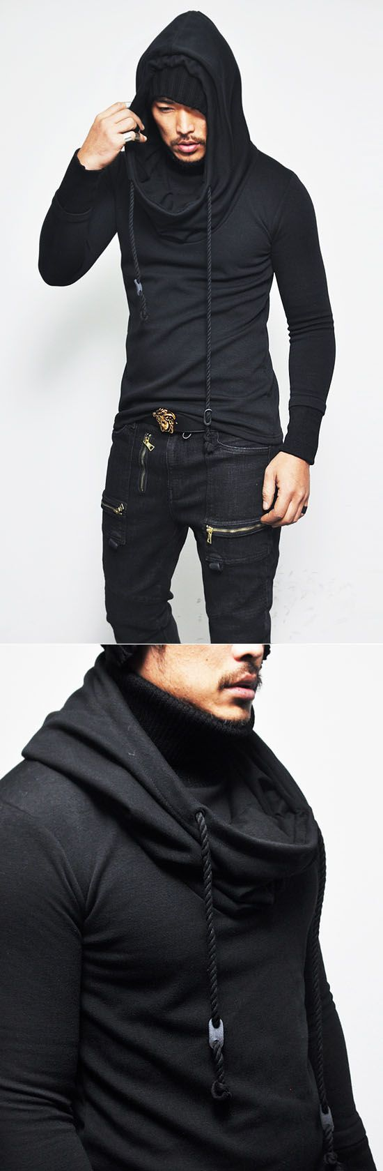 Built-in Turtle Fleece Hood Jersey-Hoodie - Mens Fashion Clothing For An Attractive Guy Look repin & like please. Check out Noelito Flow music. #Noel. Thanks https://www.twitter.com/noelitoflow http://www.instagram.com/rockstarking