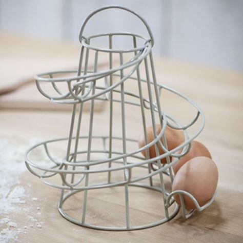 Kitchen Storage Spiral Helter Skelter Egg Holder Stand Rack Holds Up To 18 Eggs
