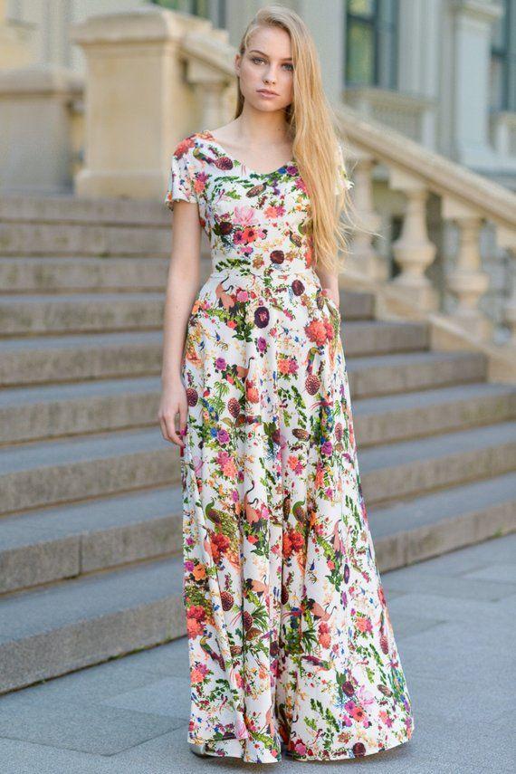668afcd0f45b Floral Maxi Dress, Summer Maxi Dress, Women Maxi Dress, Plus Size Clothing,  Long Maxi Dress, Bohemia in 2019 | Products | Floral maxi dress, Dresses