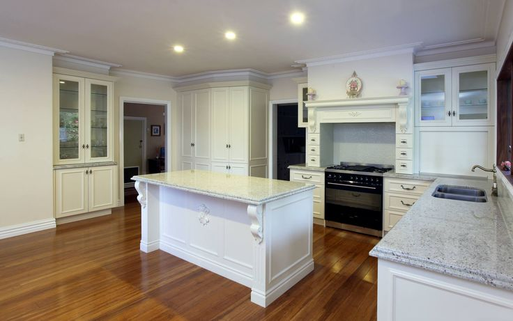 "Traditional kitchens are so warm and inviting and this one is no exception. The recessed panel door is making a big comeback. We love the attention to detail in this kitchen and use of Albedor's ""Sheree"" with bolection mould, doors and panels. Thank you to owner / photographer Gary for bringing it to our attention and supplying this lovely photo. For more of Gary's work visit www.photosense.com.au."