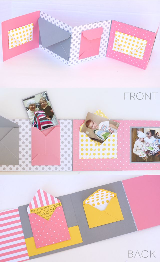 Make this fun Envelope Birthday Book or mini photo album!