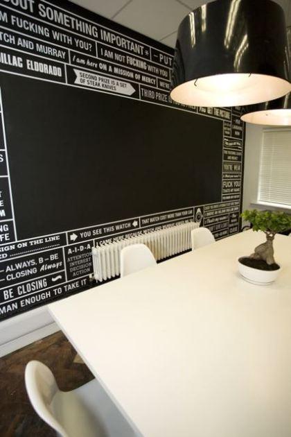 Conference room blackboard