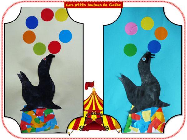 Bricolage enfants sur les animaux les otaries font leur show bricolage - Les animaux font leur show ...
