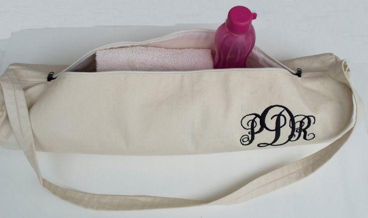 Personalized Yoga Bags -Parchment Twill Monogram Yoga Mat Bag- Yoga Totes- Yoga Mat Sling- Custom Yoga Bag- Yoga Backpack Yoga Accessories