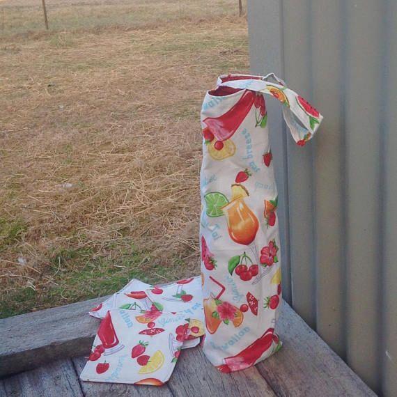 Wine Tote Wine Bag and Coaster Set Picnic